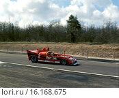 Jean-Pierre Jarier-Arturo Merzario's Alfa Romeo T33 winning at the Dijon 500kms race, France 1977. Стоковое фото, фотограф GP Library \ UIG / age Fotostock / Фотобанк Лори