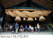Купить «Japan, San-in Region, Shimane Prefecture, Izumo, View of Izumo Taisha shrine.», фото № 16172411, снято 20 сентября 2018 г. (c) age Fotostock / Фотобанк Лори