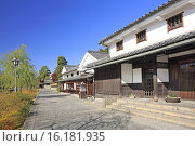 Купить «Japan, Sanyo Region, Okayama Prefecture, Kurashiki-shi, View of street in town.», фото № 16181935, снято 20 сентября 2018 г. (c) age Fotostock / Фотобанк Лори