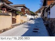 Купить «Japan, Sanyo Region, Okayama Prefecture, Takahashi, View of Ishibiya cityscape.», фото № 16200983, снято 19 февраля 2019 г. (c) age Fotostock / Фотобанк Лори