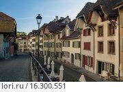 Купить «Afternoon in Aarau, canton Aargau, Switzerland.», фото № 16300551, снято 21 апреля 2015 г. (c) age Fotostock / Фотобанк Лори
