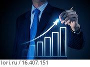 Купить «Average sales dynamics», фото № 16407151, снято 28 февраля 2013 г. (c) Sergey Nivens / Фотобанк Лори