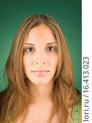 Купить «Portrait of young woman», фото № 16413023, снято 21 июля 2005 г. (c) easy Fotostock / Фотобанк Лори