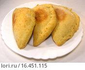 Купить «Домашние пирожки с начинкой на тарелке», эксклюзивное фото № 16451115, снято 6 января 2014 г. (c) lana1501 / Фотобанк Лори