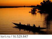 Flussszene auf dem Niger in Mali. Стоковое фото, фотограф Steffen Fricke / easy Fotostock / Фотобанк Лори