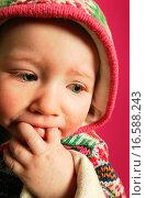 Купить «A baby with fingers in mouth», фото № 16588243, снято 17 августа 2018 г. (c) easy Fotostock / Фотобанк Лори