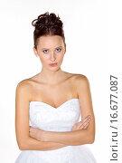 Купить «angry bride in wedding dress», фото № 16677087, снято 13 ноября 2018 г. (c) easy Fotostock / Фотобанк Лори