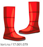 Купить «illustration of isolated rubber boots», фото № 17001079, снято 23 октября 2018 г. (c) easy Fotostock / Фотобанк Лори