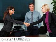 Купить «Business people shaking hands», фото № 17082835, снято 8 декабря 2019 г. (c) easy Fotostock / Фотобанк Лори
