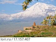 Монастырь Хор Вирап и гору Арарат, Армения, фото № 17157407, снято 26 мая 2011 г. (c) Евгений Суворов / Фотобанк Лори