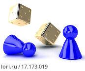 Купить «gold dice and blue chips», фото № 17173019, снято 7 декабря 2019 г. (c) easy Fotostock / Фотобанк Лори