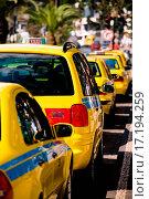 Купить «Parked Yellow Taxi Cab Waiting for a Fare», фото № 17194259, снято 15 ноября 2018 г. (c) easy Fotostock / Фотобанк Лори