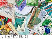 Купить «Post stamps collage», фото № 17198451, снято 21 ноября 2019 г. (c) easy Fotostock / Фотобанк Лори