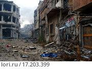 Улицы центрального Хомса в первые часы после вывода боевиков, фото № 17203399, снято 8 мая 2014 г. (c) Кочнева Анхар / Фотобанк Лори