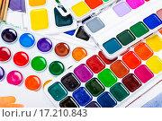 Купить «Новые акварельные краски. Фактура», фото № 17210843, снято 4 декабря 2015 г. (c) Алёшина Оксана / Фотобанк Лори