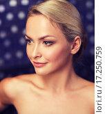 Купить «close up of young woman sitting in bath towel», фото № 17250759, снято 15 декабря 2014 г. (c) Syda Productions / Фотобанк Лори