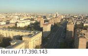 Купить «Москва на рассвете. Видеосъемка с помощью дрона», видеоролик № 17390143, снято 19 марта 2019 г. (c) kinocopter / Фотобанк Лори