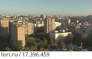 Купить «Москва на рассвете. Видеосъемка с дрона», видеоролик № 17396459, снято 19 марта 2019 г. (c) kinocopter / Фотобанк Лори