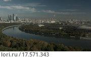 Купить «Вид на Сити и Лужники с коптера», видеоролик № 17571343, снято 24 марта 2019 г. (c) kinocopter / Фотобанк Лори