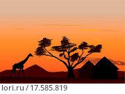Купить «Sunset in Africa», фото № 17585819, снято 22 мая 2019 г. (c) easy Fotostock / Фотобанк Лори
