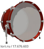 Bass Drum isolated on a white. Стоковое фото, фотограф Lembit / easy Fotostock / Фотобанк Лори