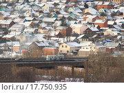 Вид на Богданку, Чебоксары, фото № 17750935, снято 27 декабря 2015 г. (c) Александр Якимов / Фотобанк Лори