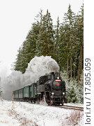 Купить «steam train near Hradsko, Czech Republic», фото № 17805059, снято 12 декабря 2017 г. (c) easy Fotostock / Фотобанк Лори