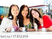 Купить «Group of girlfriends having coffee», фото № 17812019, снято 4 апреля 2020 г. (c) easy Fotostock / Фотобанк Лори