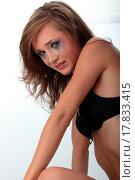 Купить «Woman in underwear crying _ violence concept», фото № 17833415, снято 22 июля 2019 г. (c) easy Fotostock / Фотобанк Лори