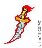 Купить «Medieval dagger with barbed wire for tattoo or mascot design», иллюстрация № 18023767 (c) easy Fotostock / Фотобанк Лори