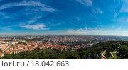 Вид на Прагу с высоты Петрин Хилл (2015 год). Стоковое фото, фотограф Dmitrii Shafranskii / Фотобанк Лори