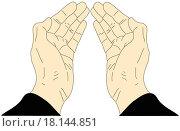 Руки на белом фоне. Стоковая иллюстрация, иллюстратор Фомичёв Роман / Фотобанк Лори