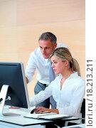 Купить «Business people working in the office», фото № 18213211, снято 19 сентября 2018 г. (c) easy Fotostock / Фотобанк Лори