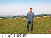 Купить «Shepherd in field», фото № 18295251, снято 24 января 2019 г. (c) easy Fotostock / Фотобанк Лори