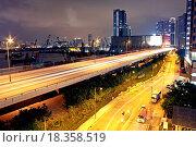 Купить «traffic in Hong Kong at night», фото № 18358519, снято 13 ноября 2018 г. (c) easy Fotostock / Фотобанк Лори