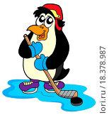 Купить «Penguin hockey player», фото № 18378987, снято 22 мая 2019 г. (c) easy Fotostock / Фотобанк Лори