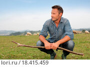 Купить «Shepherd in field», фото № 18415459, снято 24 января 2019 г. (c) easy Fotostock / Фотобанк Лори
