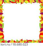 Рамка из листьев. Стоковая иллюстрация, иллюстратор Максим Сиротинин / Фотобанк Лори