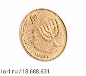 Купить «Ten Israeli New Sheqel cents», фото № 18688631, снято 11 декабря 2018 г. (c) easy Fotostock / Фотобанк Лори