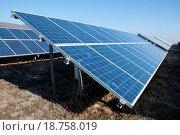 Купить «Solar photovoltaic panels», фото № 18758019, снято 6 июня 2020 г. (c) easy Fotostock / Фотобанк Лори
