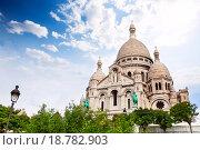 Купить «Купола Собора Святого Сердца, Париж, Франция», фото № 18782903, снято 5 октября 2015 г. (c) Сергей Новиков / Фотобанк Лори