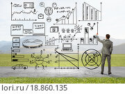 Купить «Demonstrating business success strategy», фото № 18860135, снято 27 марта 2014 г. (c) Sergey Nivens / Фотобанк Лори