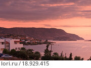 Рассвет над заливом Мирабелло. Крит (2013 год). Стоковое фото, фотограф Алексей Лобанов / Фотобанк Лори