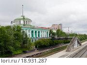 Россия, Мурманск, Железнодорожный вокзал (2015 год). Стоковое фото, фотограф Александр Циликин / Фотобанк Лори
