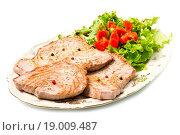 tuna filet with salad. Стоковое фото, фотограф Luca Santilli / easy Fotostock / Фотобанк Лори