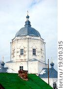 Христианская церковь в Мариинском Посаде на Волге (2007 год). Стоковое фото, фотограф Сергей Серебряков / Фотобанк Лори