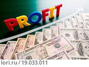 Купить «profit words and growing US dollars», фото № 19033011, снято 20 сентября 2019 г. (c) easy Fotostock / Фотобанк Лори