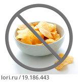 Купить «Chips in a bowl», фото № 19186443, снято 19 февраля 2020 г. (c) easy Fotostock / Фотобанк Лори