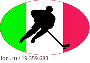 Купить «Hockey series icon in national colours», фото № 19359683, снято 26 мая 2020 г. (c) easy Fotostock / Фотобанк Лори