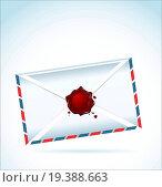 Купить «Illustration of the closed letter fastened by red sealing wax», фото № 19388663, снято 13 июля 2020 г. (c) easy Fotostock / Фотобанк Лори